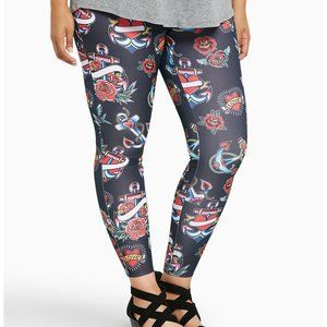 Torrid TATTOO PRINT FULL LENGTH LEGGINGS